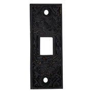 2 1/4 Inch Solid Brass Rice Pattern Pocket Door Strike Plate (Oil Rubbed Bronze)
