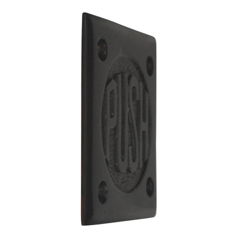 "2 3/4 Inch Brass Classic American ""PUSH"" Plate (Oil Rubbed Bronze)"