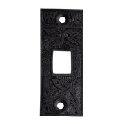 2 1/4 Inch Solid Brass Broken Leaf Pocket Door Strike Plate (Oil Rubbed Bronze)
