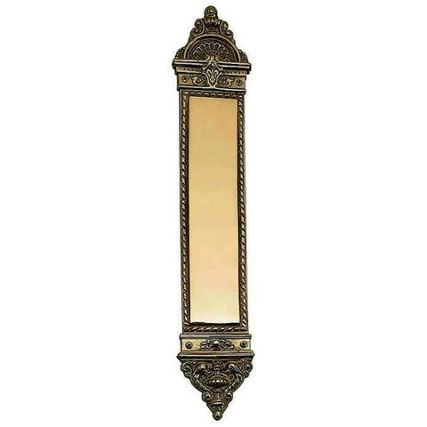 16 Inch European Style Door Push Plate (Antique Brass Finish)