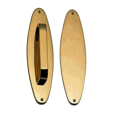 11 Inch Traditional Oval Style Door Push and Pull Plate Set (Antique Brass Finish)