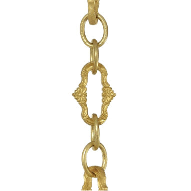 5 Feet Solid Brass Floral Chain (Polished Brass Finish)