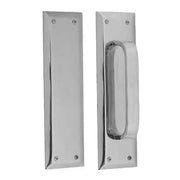 10 Inch Quaker Style Pull and Push Plate Set (Polished Chrome Finish)