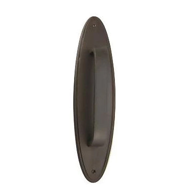 11 Inch Traditional Oval Style Door Pull & Plate (Oil Rubbed Bronze)