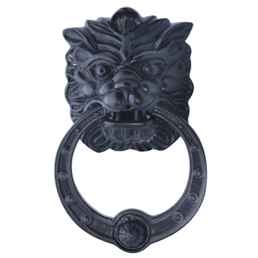 8 3/8 Inch (4 Inch c-c) Solid Brass Regal Lion Door Knocker (Oil Rubbed Bronze Finish)