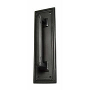 10 Inch Solid Brass Classic Style Push and Pull Plate Set (Oil Rubbed Bronze Finish)