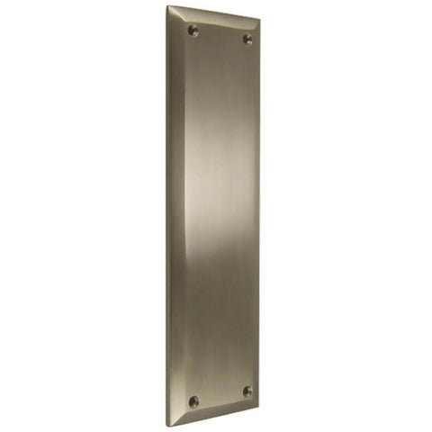 10 Inch Quaker Style Pull and Push Plate Set (Brushed Nickel Finish)