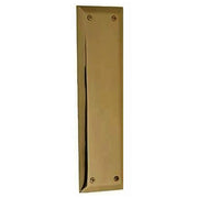 10 Inch Quaker Style Pull and Push Plate Set (Antique Brass Finish)