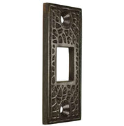 Solid Brass Craftsman Pocket Door Strike Plate (Oil Rubbed Bronze Finish)