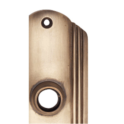 7 Inch Solid Brass Art Deco Door Back Plate (Antique Brass Finish)