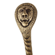 10 Inch Ornate Lion's Head Door Pull (Antique Brass Finish)