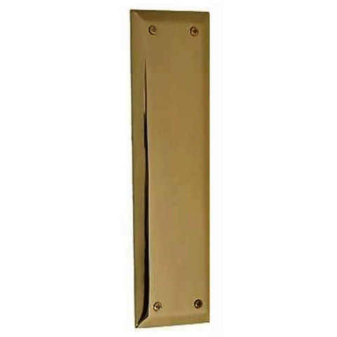 10 Inch Quaker Style Push Plate (Antique Brass Finish)