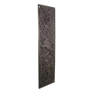 11 1/4 Inch Cockateel Bird and Flower Push Plate (Oil Rubbed Bronze Finish)