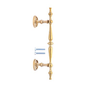 9 1/2 Inch Solid Brass Traditional Door Pull (Polished Brass Finish)