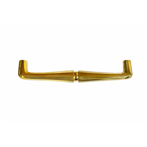 8 1/2 Inch (8 Inch c-c) Octagon Ball Pull Handle (Polished Brass Finish)