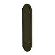 8 3/8 Inch Solid Brass Rounded Georgian Pattern Push Plate (Oil Rubbed Bronze Finish)