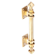 8 Inch Solid Brass Colonial Style Pull (Polished Brass Finish)