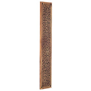 12 Inch Solid Brass Rice Pattern Push Plate  (Antique Brass Finish)