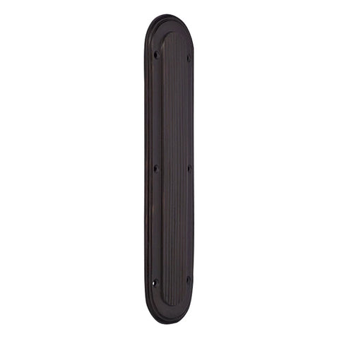 10 1/2 Inch Classic Art Deco Solid Brass Push Plate (Oil Rubbed Bronze Finish)