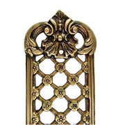 12 Inch Solid Brass Finger Push Plate: Trellis Lattice Work (Antique Brass Finish)