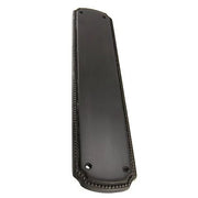 11 1/2 Inch Solid Brass Beaded Push & Plate (Oil Rubbed Bronze Finish)