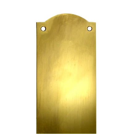 12 Inch Solid Brass Oval Push Plate (Antique Brass Finish)