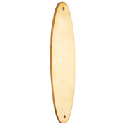 11 Inch Solid Brass Oval Push Plate (Lacquered Brass Finish)
