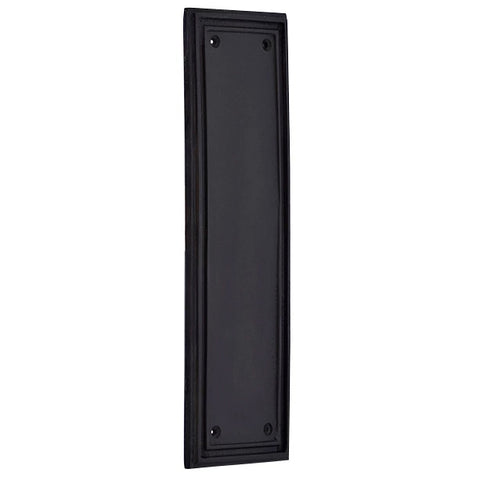10 Inch Solid Brass Classic Style Push Plate (Oil Rubbed Bronze Finish)