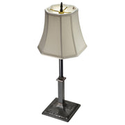 Handmade 21 Inch Solid Brass French Table Lamp (Oil Rubbed Bronze Base)