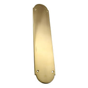 12 Inch Traditional Style Door Push Plate (Polished Brass Finish)