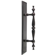 11 1/2 Inch Solid Brass Georgian Roped Style Door Pull and Plate (Oil Rubbed Bronze Finish)
