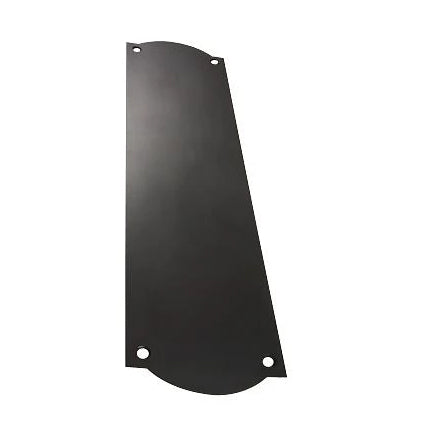 12 Inch Solid Brass Oval Push Plate (Oil Rubbed Bronze Finish)