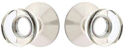 Modern Disc Crystal Door Knob Set With Modern Rosette (Many Finishes)