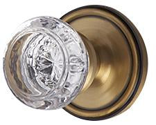 Savannah Round Crystal Door Knob with Victorian Rosette