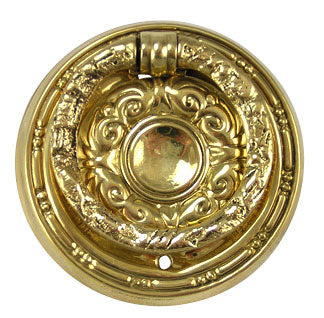 2 Inch Solid Brass Eastlake Drawer Ring Pull (Polished Brass)