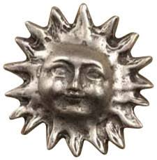 Anne at Home 1 1/2 Inch Small Spiky Sun Cabinet Knob (Satin Pewter Finish)