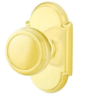 Solid Brass Norwich Door Knob Set With # 8 Rosette
