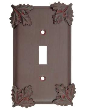 Oak Leaf Style Wall Plate (Rust Finish)