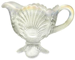 Crystal Opalescent Shell Pattern: Handled Creamer Dish
