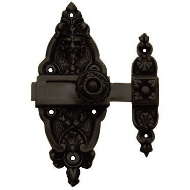 5 1/2 Inch French Door or Cabinet Slide Bolt Latch (Oil Rubbed Bronze Finish)
