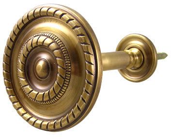 Georgian Rope Style Curtain Tieback (Antique Brass Finish)