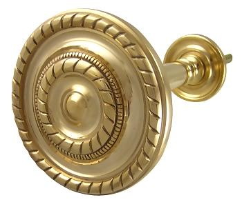 Georgian Rope Style Curtain Tieback (Polished Brass Finish)