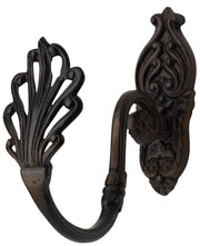 Solid Brass Victorian Coat Hook (Oil Rubbed Bronze Finish)