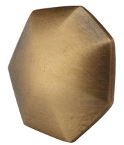 1 3/8 Inch Solid Brass Heptagonal Cabinet Knob (Antique Brass Finish)