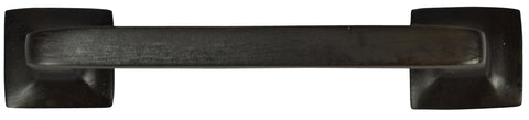 4 1/4 Inch Overall (3 Inch c-c) Solid Brass Square Traditional Pull (Oil Rubbed Bronze Finish)