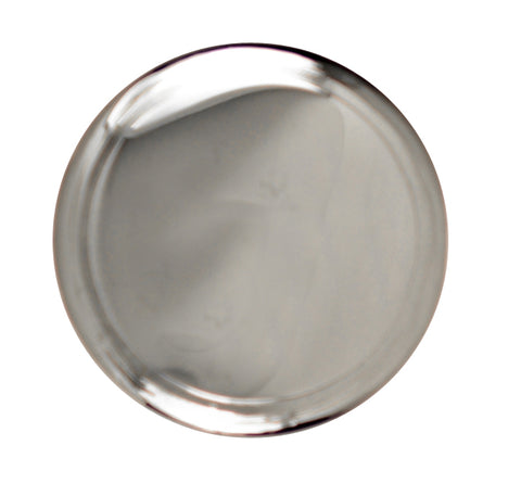 1 1/4 Inch Brass Flat Top Cabinet Knob (Polished Chrome Finish)