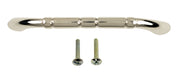 4 3/4 Inch Overall (4 Inch c.c.) Solid Brass Traditional Pull (Polished Nickel Finish)