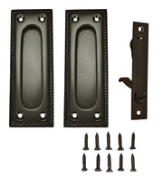 Georgian Square Single Pocket Passage Style Door Set (Oil Rubbed Bronze Finish)