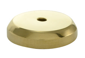 1 1/4 Inch Solid Brass Traditional Round Back Plate (Polished Brass Finish)