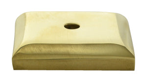 1 2/5 Inch Solid Brass Traditional Back Plate (Polished Brass Finish)